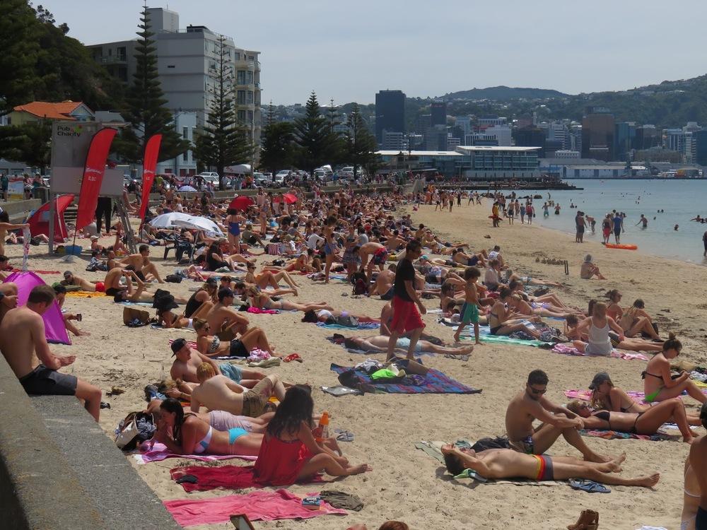 Fred Kersten, O is for Oriental Bay Beach: summer day in Wellington, 2016
