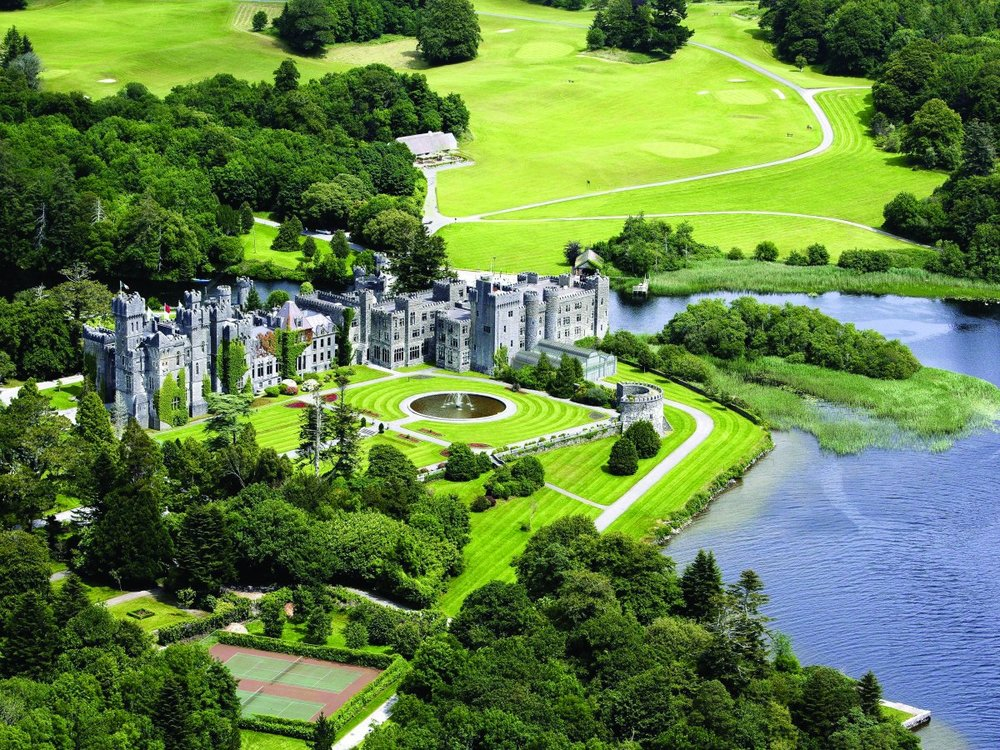 Ashford Castle is set on 350 acres of the picturesque shores of Lough Corrib in County Mayo, Ireland.