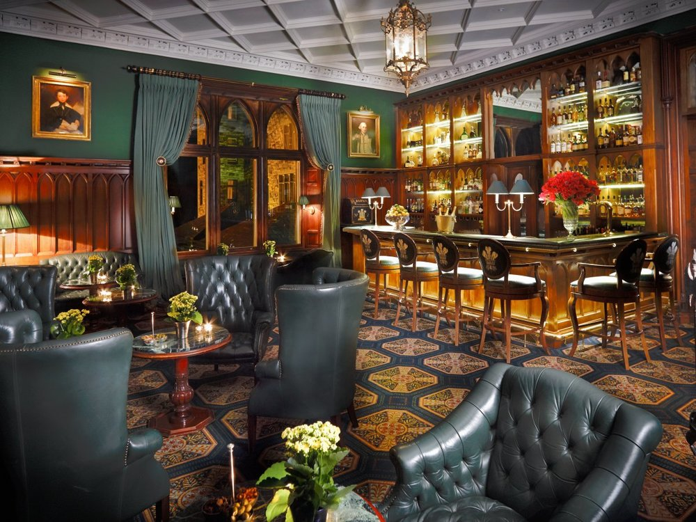The Prince of Wales Bar was built in the late 1800s and is filled with opulent fabrics, warm wood paneling, and its original fireplace. In 1905, the bar was visited by the Prince of Wales himself, who would later become King George V of England.