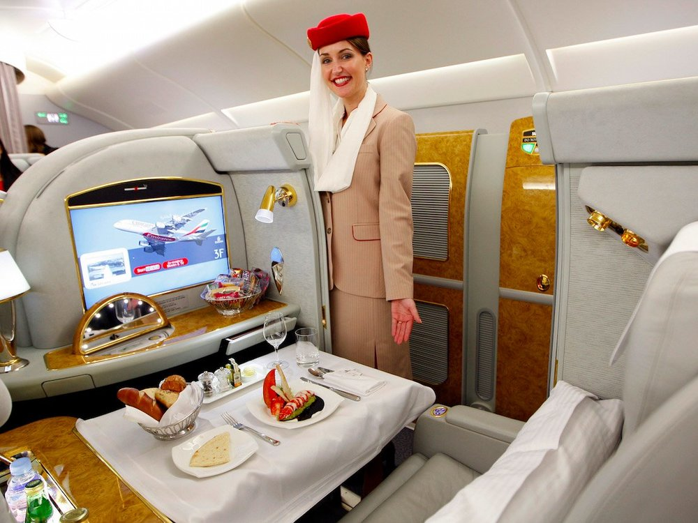 Passengers are treated like royalty in their own private cabin.  Kai Pfaffenbach/Reuters