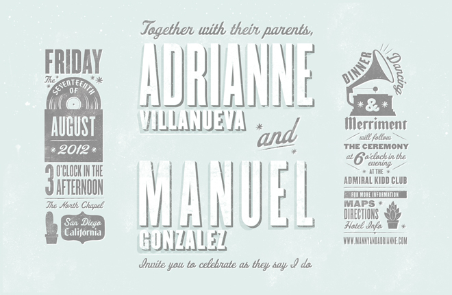 11x17 Wedding Invite Poster
