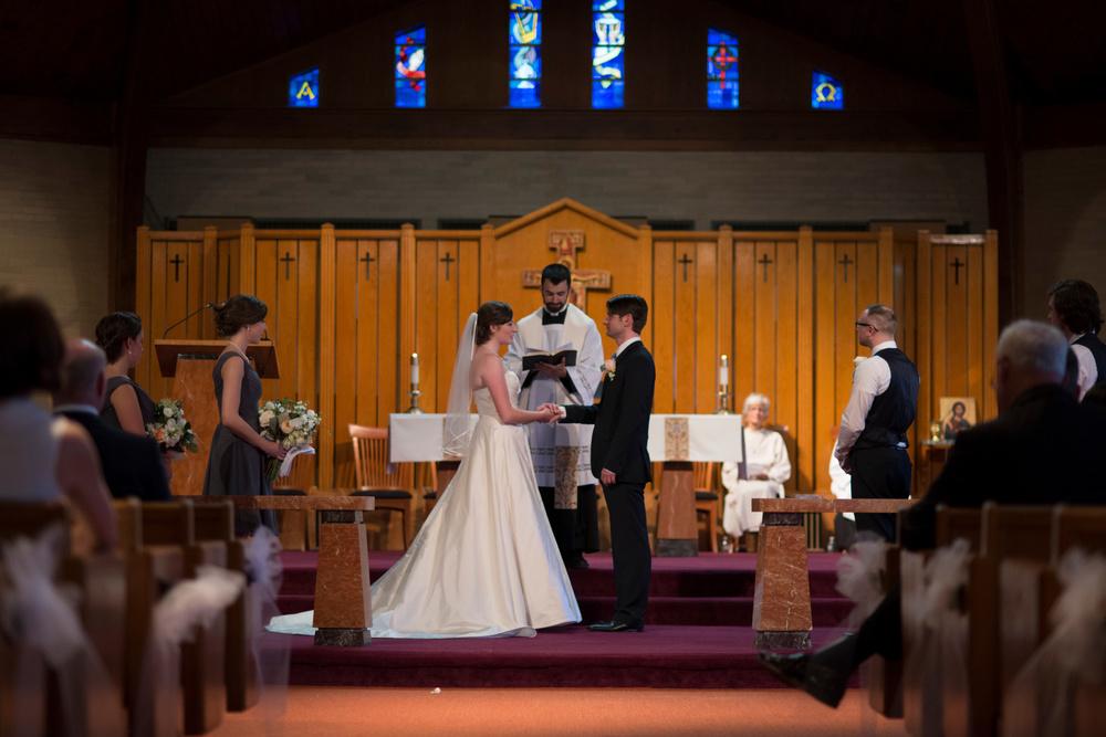 We said vows.