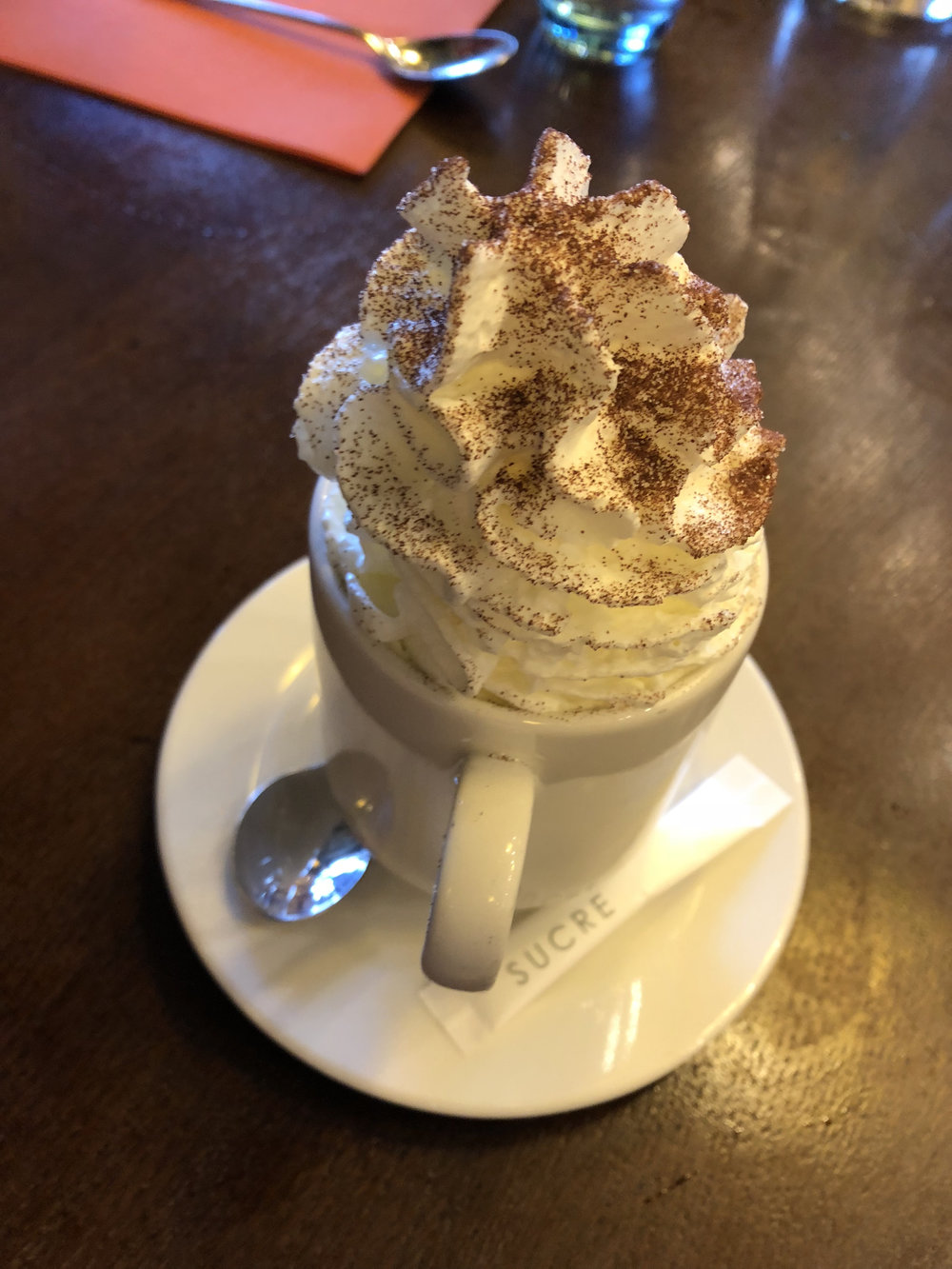 The pinnacle of all hot chocolate I've tried, from the Musée D'Orsay.