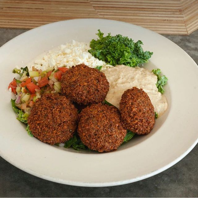 Falafel Kale salad kind of day.