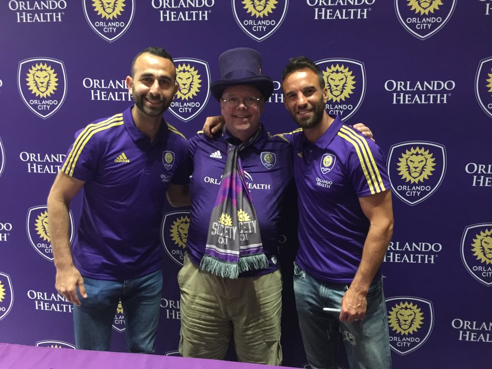 With Justin Meram (left) and Scott Sutter (right) after the Face of a City event on Friday, February 9.