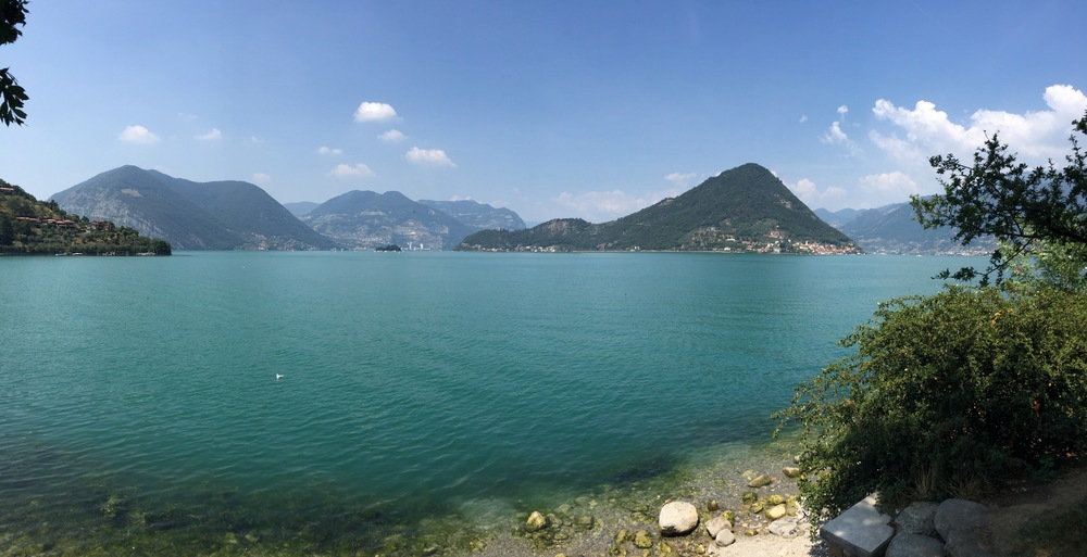 Lago d'Iseo, another stop on our way to Milan