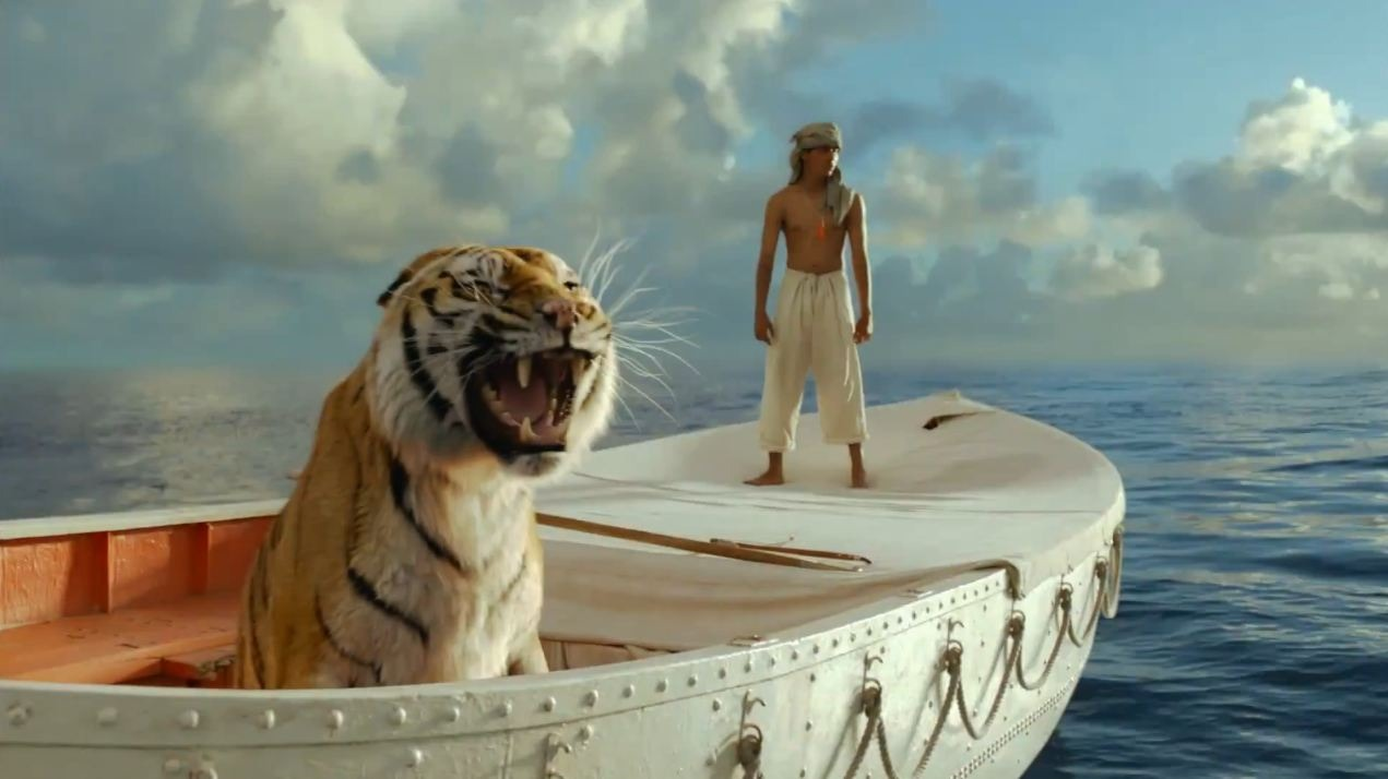 After re-watching Life of Pi, I think Pi kept his white pants whiter by using tide.