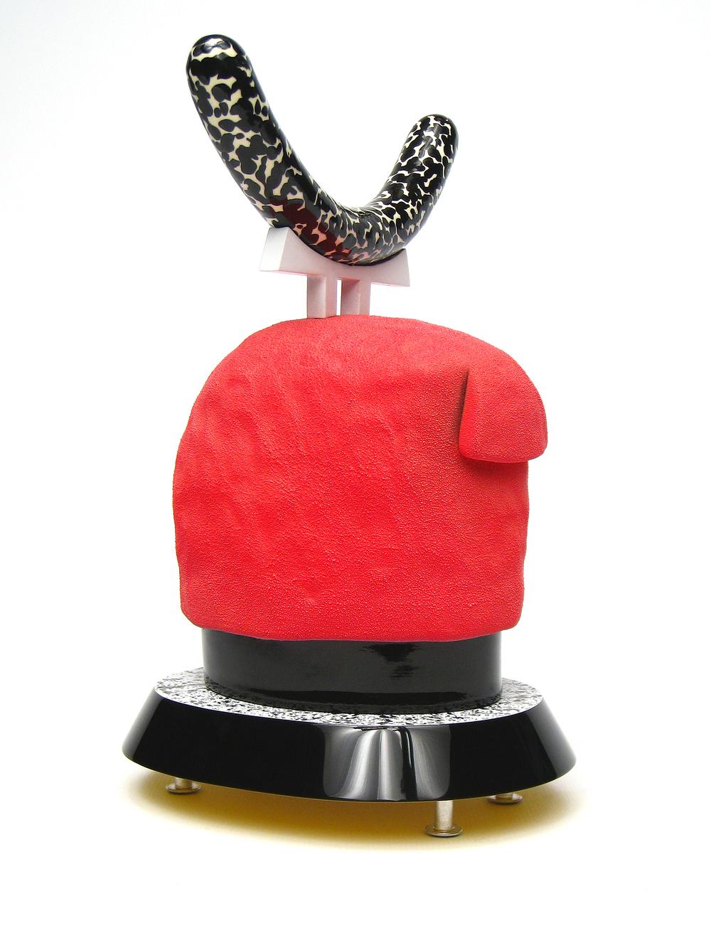 12.    Ettoreushi     2011    5.5 L x 4.5 W x 7.5 H    White earthenware, underglaze, glaze, wood, acrylic, flocking, rare earth magnets