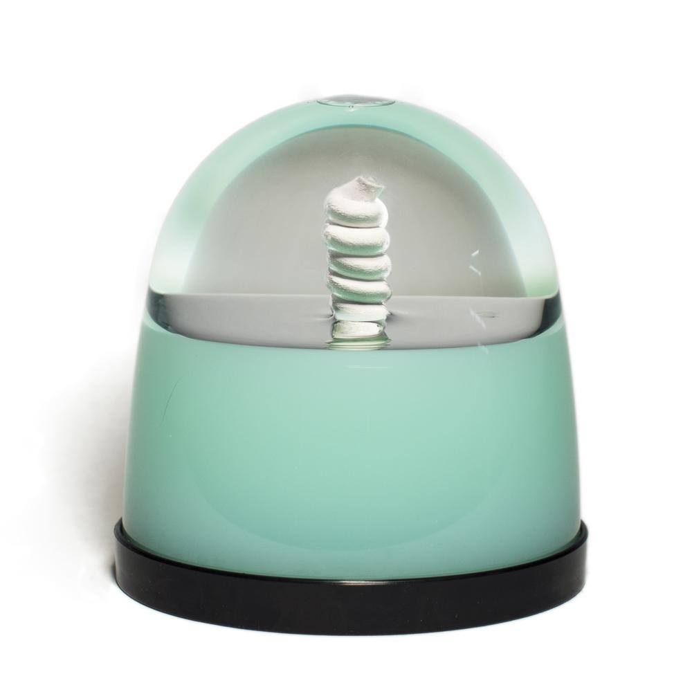 """""""Green & White Spiral Globe"""""""