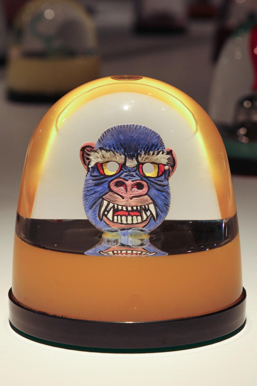 """Paper Gorilla Mask Globe"""