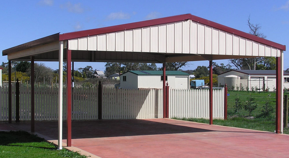 General shed information shed city pty ltd for Carport roof pitch