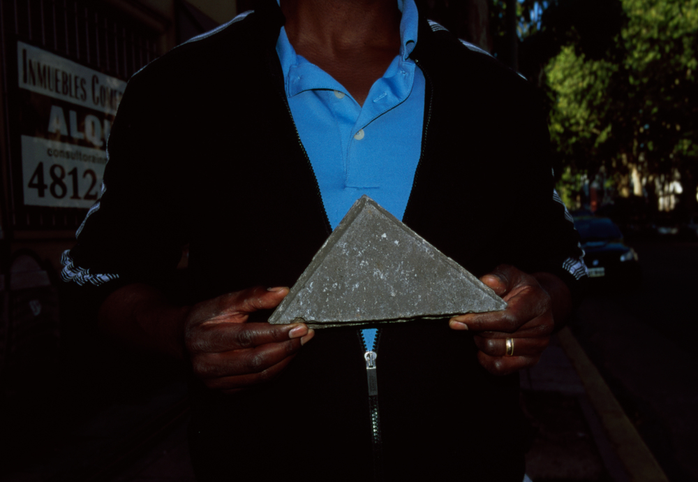 Dad with Triangle, 2014