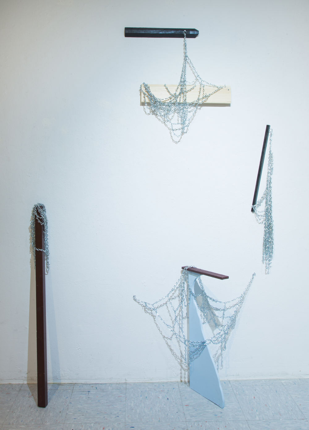 4 Sculptures - Pine, Basketbal Nets, 2016