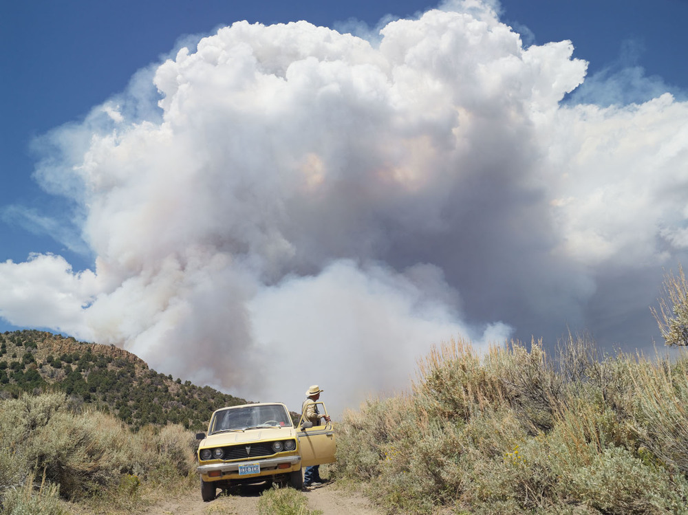 """George Chasing Wildfires, Eureka Nevada, 2012"" © Lucas Foglia"