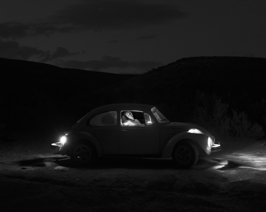 Dan in his Beetle, 2013