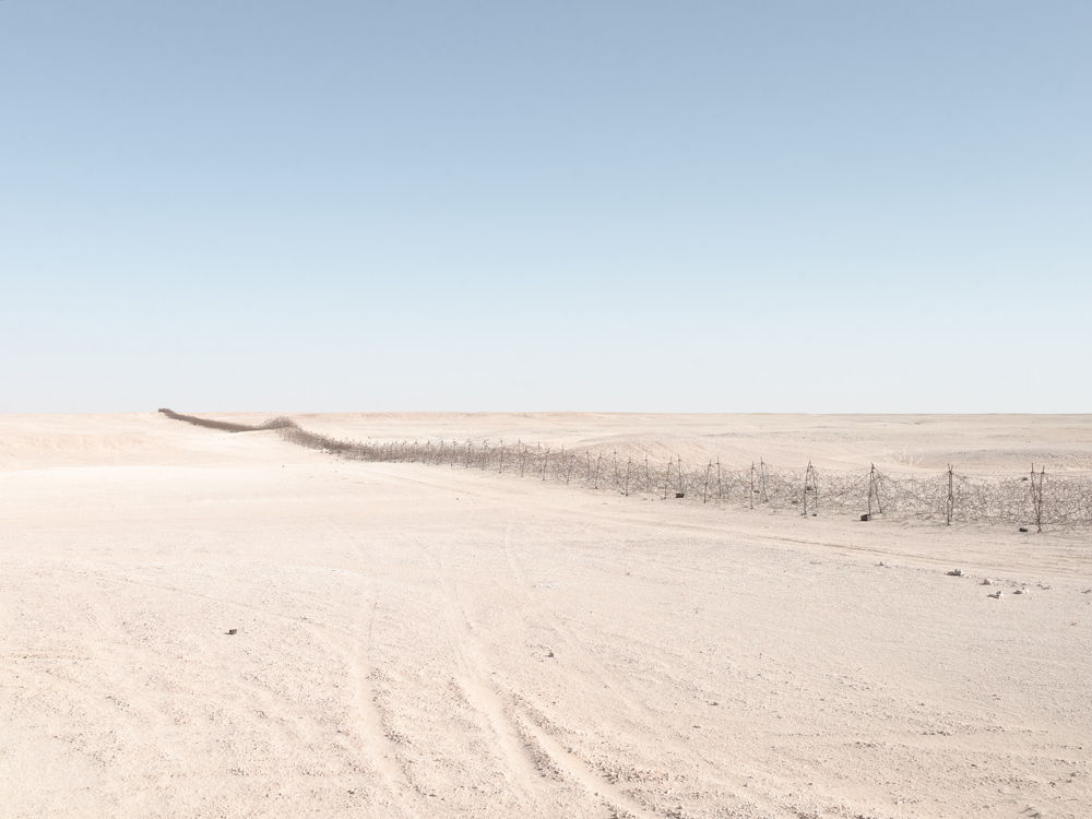 """Graziani's Fence"" (270 km barbed-wire fence), Near Jaghbub, Libya"