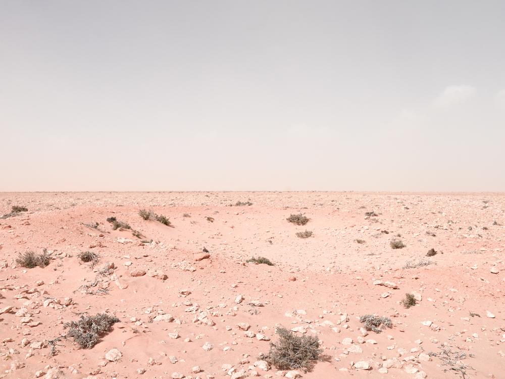 Artillery Position in Approaching Sandstorm, Alem Hamza Battlefield, Libya