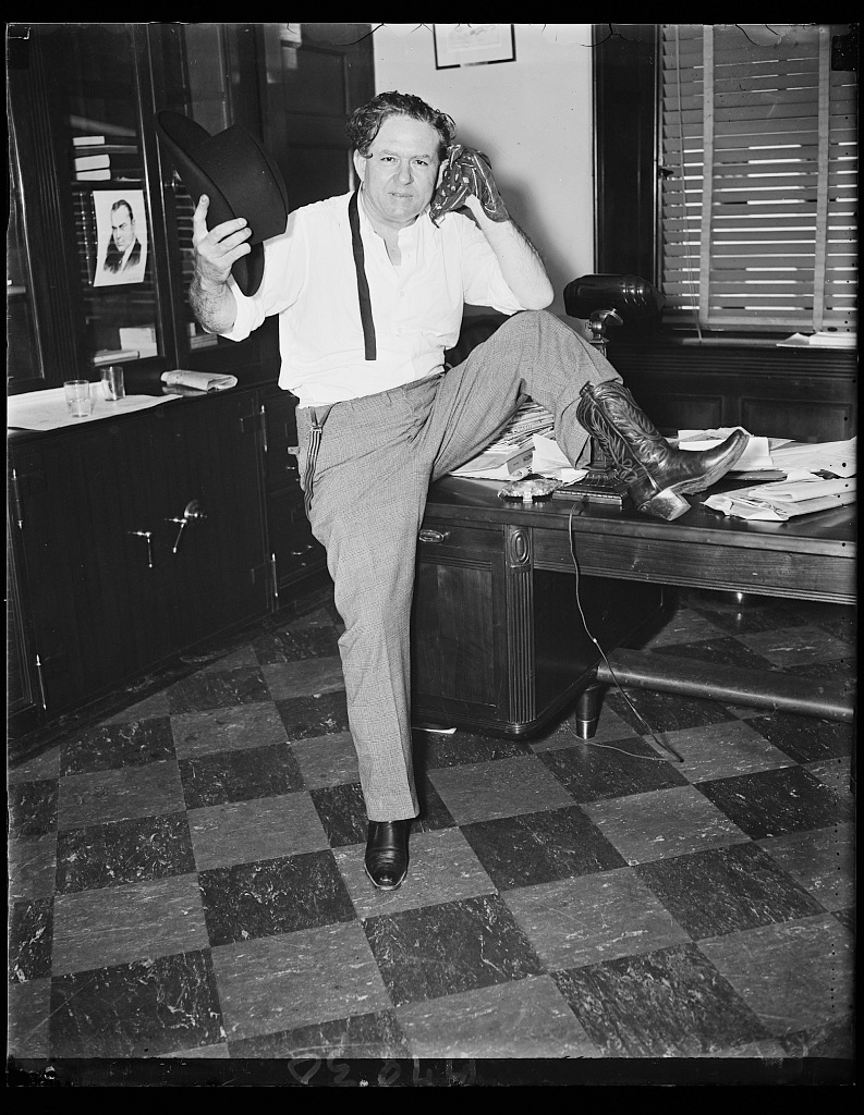"""Cowboy Congressman """"Percy"""" L. Gassaway (D. of Okla) 1935. Harris & Ewing"""
