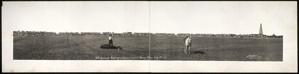 4th Annual Riding and Roping Contest, Dewey, Okla., July 4th 1911 -Drum & Griggs