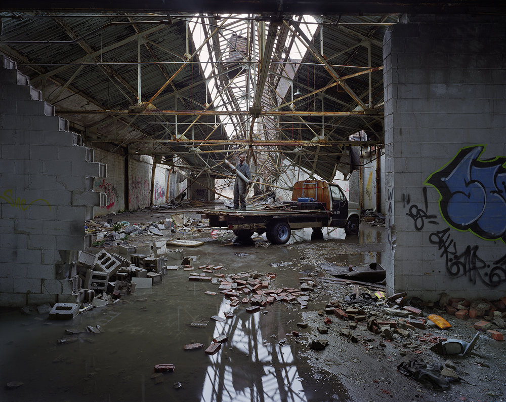 Scrapper, Packard Motor Car Company plant Detroit, 2009. ©Andrew Moore // Yancey Richardson Gallery