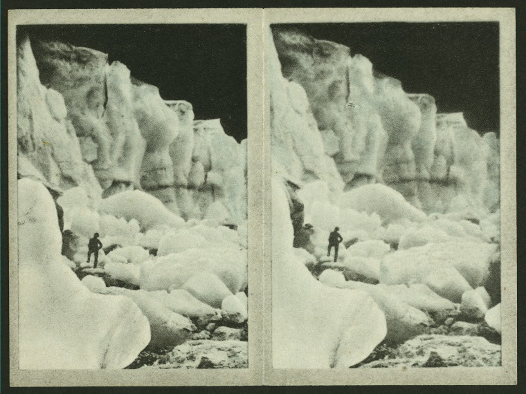 Bojun Glacier / Arents Stereoscopic Cigarette Cards