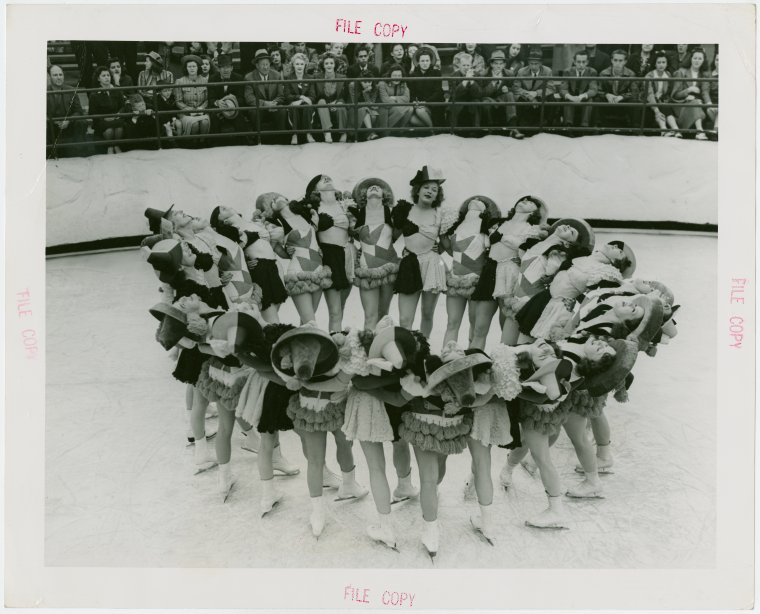 Chorus Girls Dancing on Ice Skates - Worlds Fair Collection