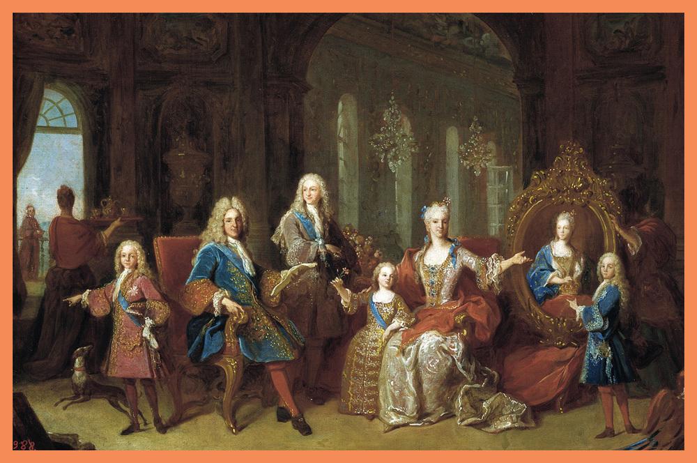 La Familia de Felipe V.Jean Ranc (1674–1735)