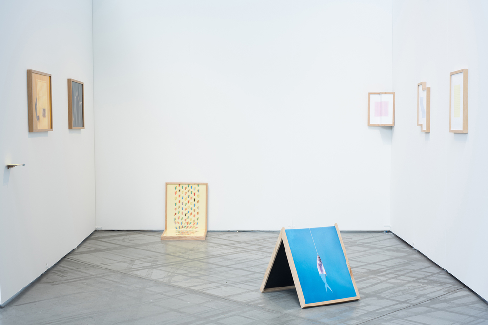 Installation view from Marcela Prado Ariza's thesis exhibition