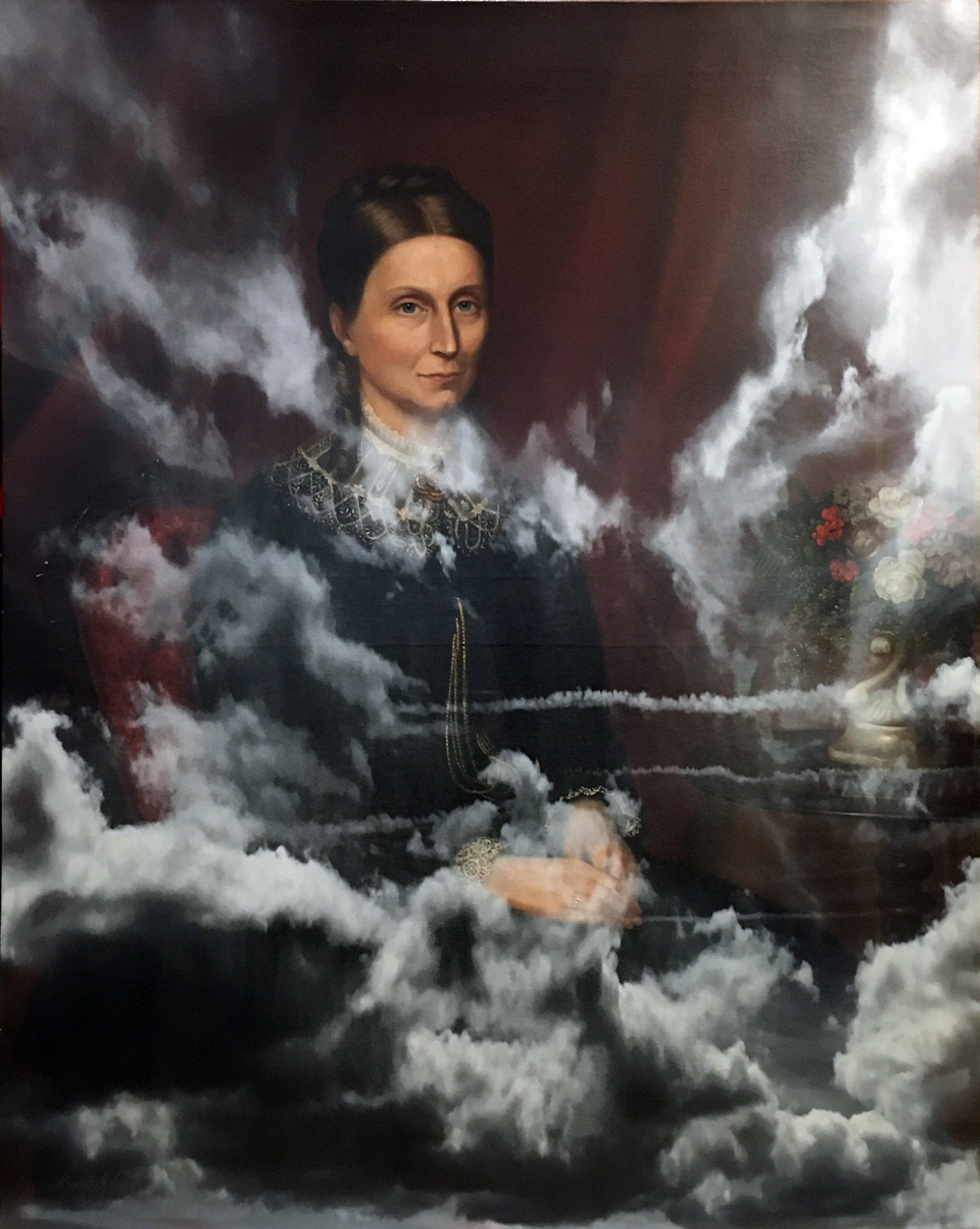 Reflection on Jane Camp © Paul Stephenson. Originally painted by Alexander Melville, 1877 (Ink on Oil on Canvas, 2016)