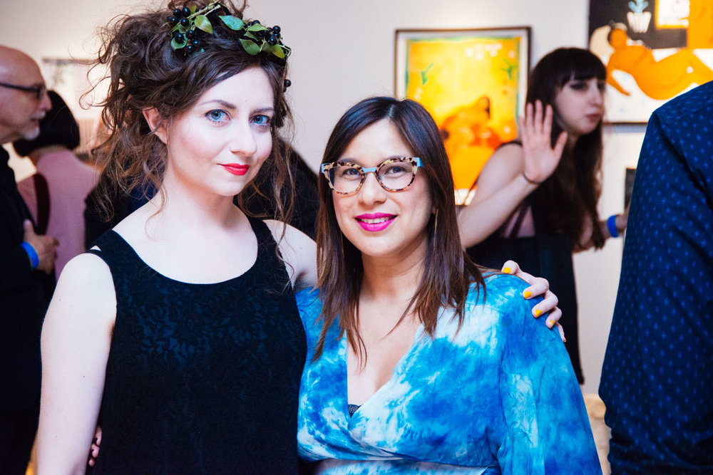 Curators Lissa Rivera and Marina Garcia-Vasquez. Courtesy of Charlie Rubin