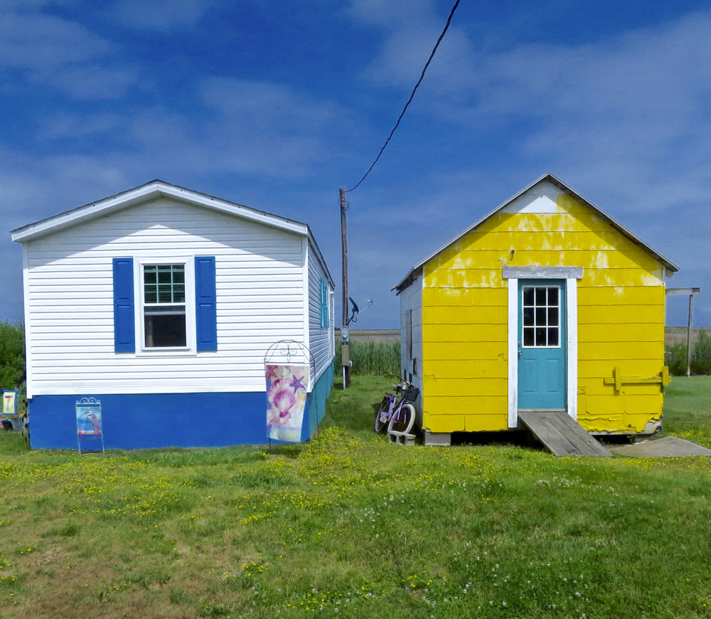 © Mary Walton,  Two Houses on Tangier Island, Virginia,  2016 Courtesy the artist