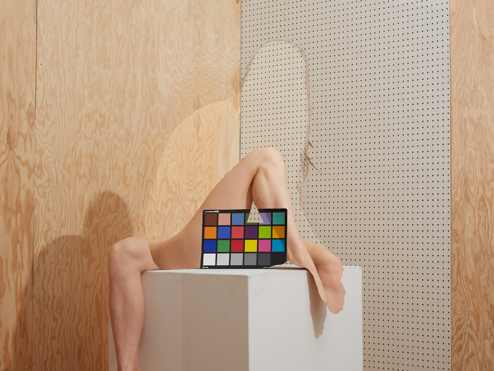 Brooke with Color Checker, 2016.  © Bill Durgin
