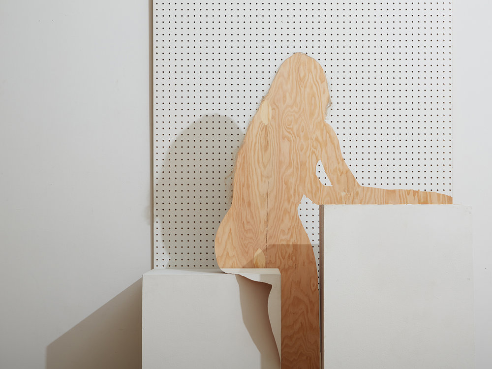 Hailey with Pegboard and Plywood 2016 . © Bill Durgin