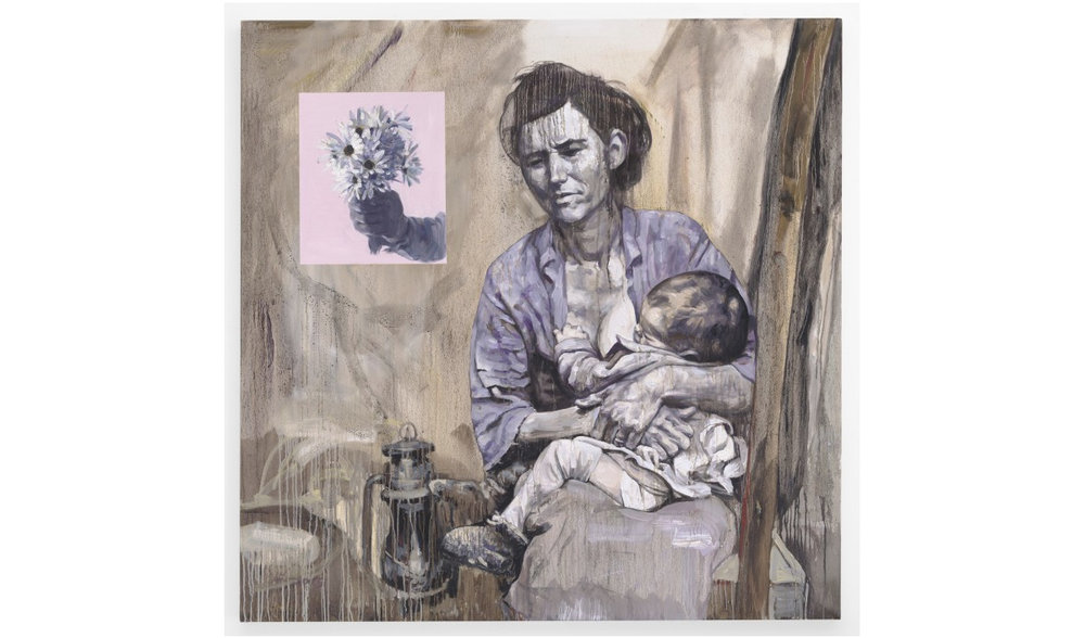 Migrant Mother , 2015 © Hung Liu. Courtesy of Nancy Hoffman Gallery