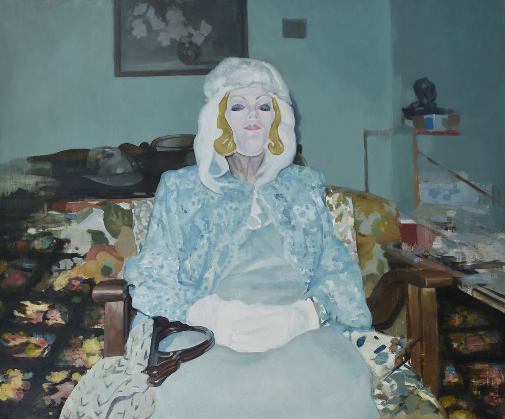 "Bernice, 2018.  30"" x 36"" oil on panel. © Justin Duffus. Courtesy of Justin Duffus and Linda Hodges Gallery"