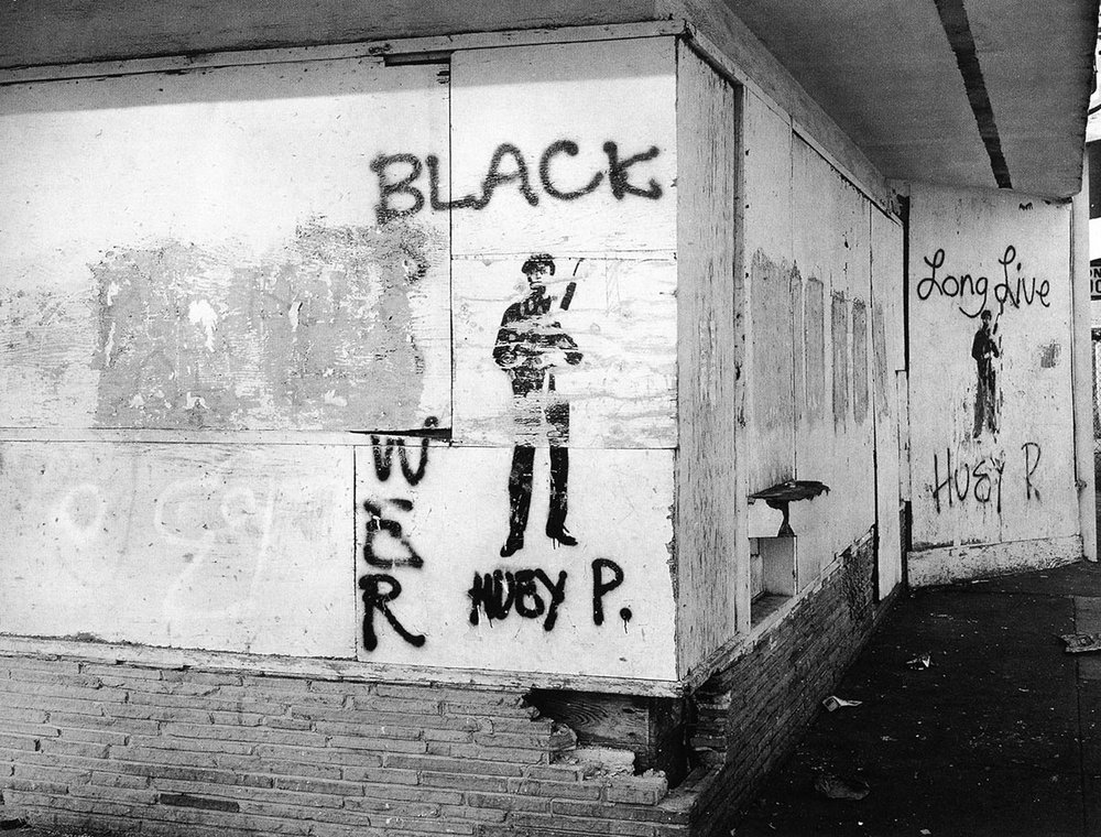 "© Lewis Watts, Graffiti, West Oakland, 1993, courtesy of the photographer, from ""All Power: Visual Legacies of the Black Panther Party,"" PCNW 2018"