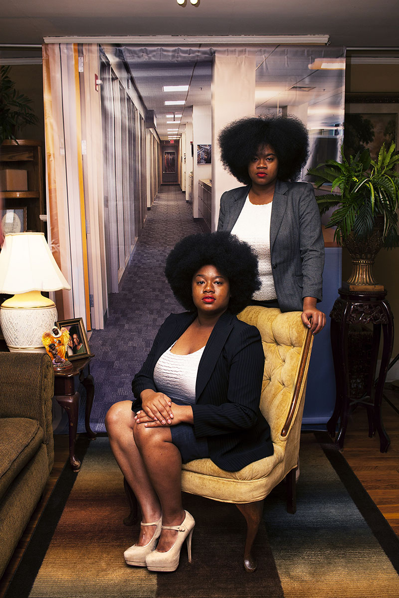 "© Endia Beal, Sabrina and Katrina, 2015, from ""Am I What You're Looking For?"", courtesy of the artist, from ""All Power: Visual Legacies of the Black Panther Party,"" PCNW 2018"