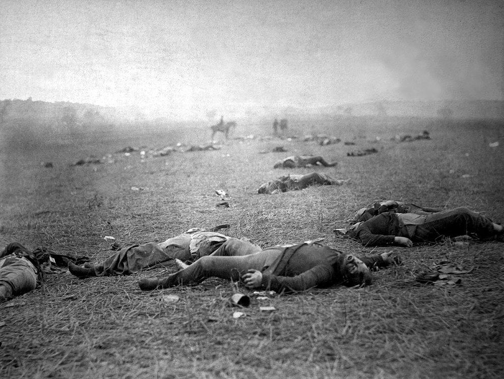 A Harvest of Death.Gettysburg, PA  © Timothy O' Sullivan 1863