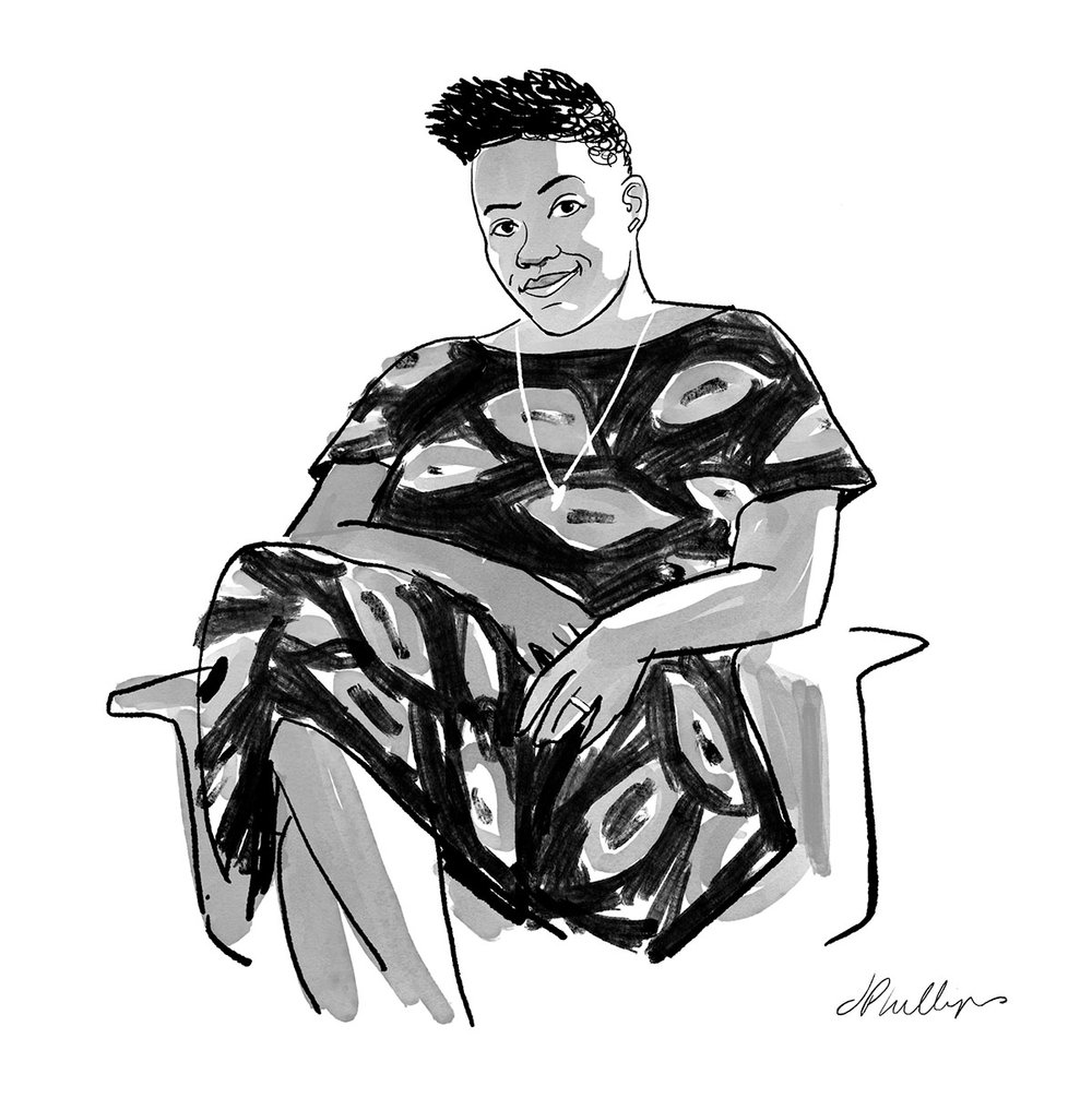 Shaniqwa Jarvis's favorite photobooks  include Nikki S. Lee's  Projects  and Andrea Kirsh's  Carrie Mae Weems . Illustration © Jeffrey Phillips