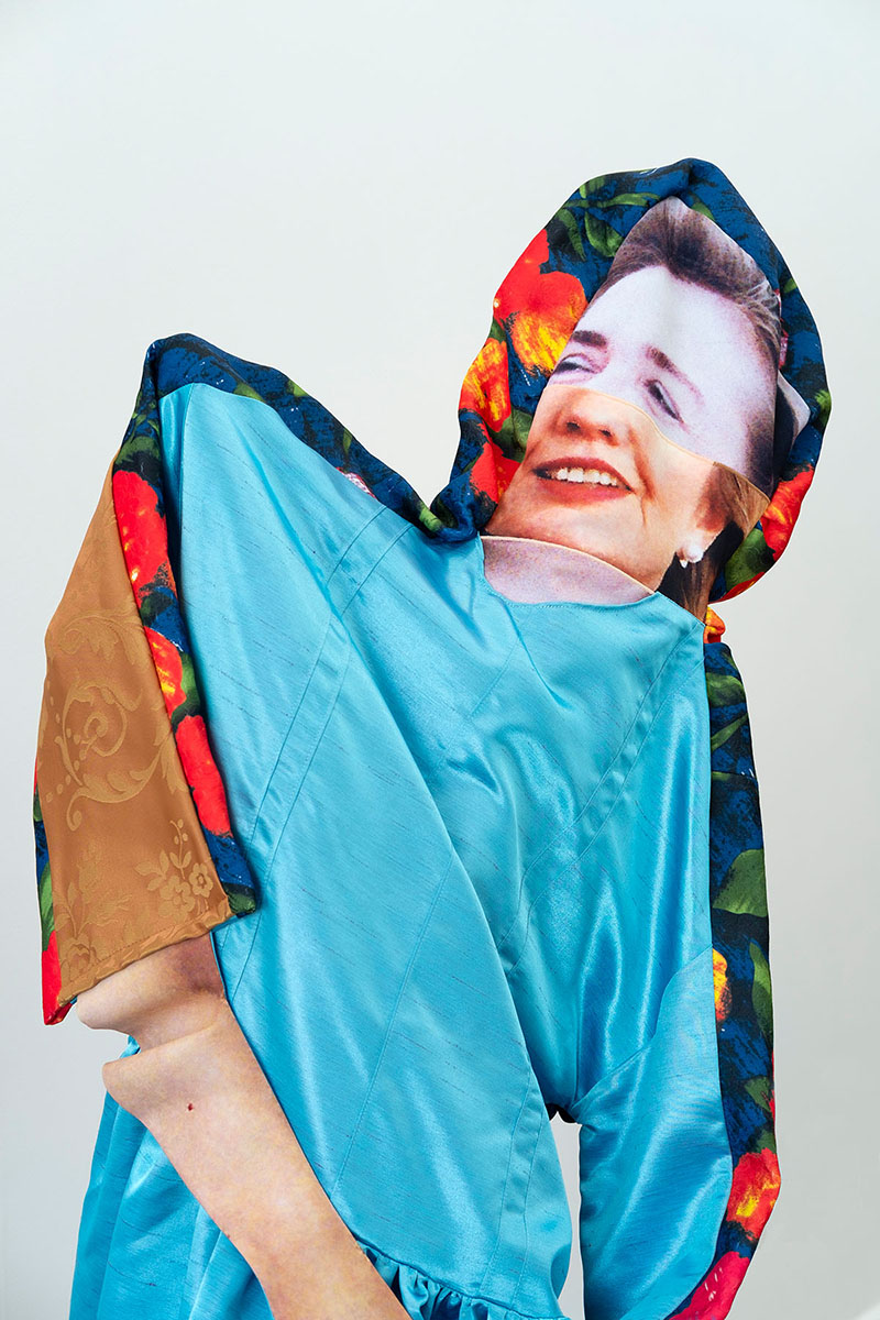 Hillary Clinton (detail), 2018; polyester, wood, paint; approx. 61 x 36 x 30 in.