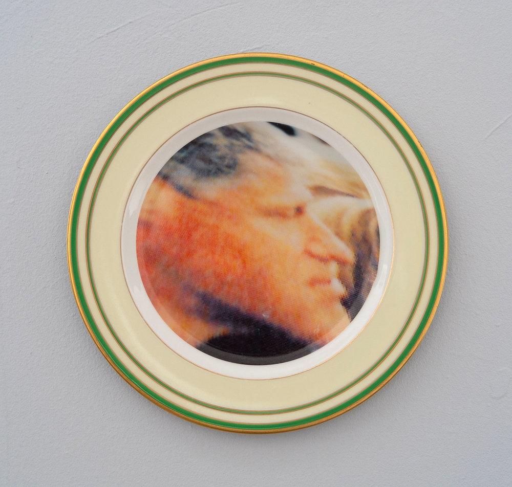 Bill Clinton, 2018; ceramic plate; 10 inch diameter.