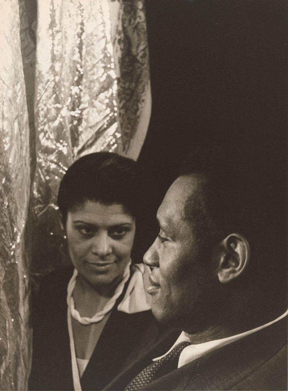 Paul Robeson and Eslanda Goode Robeson - June 1, 1933 by Carl Van Vechten.  Gelatin silver print Courtesy of Philadelphia Museum of Art, Gift of the artist, 1949, 1949-20-2