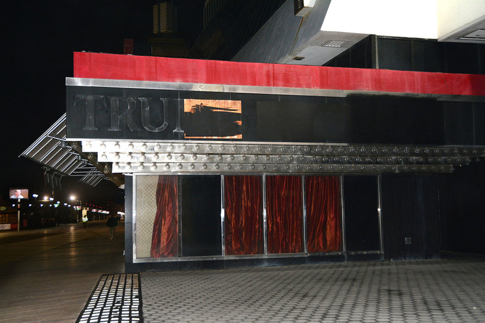Trump Name Removed From Derelict Trump Plaza. December 31, 2016. Atlantic City, NJ. © Zoe Strauss