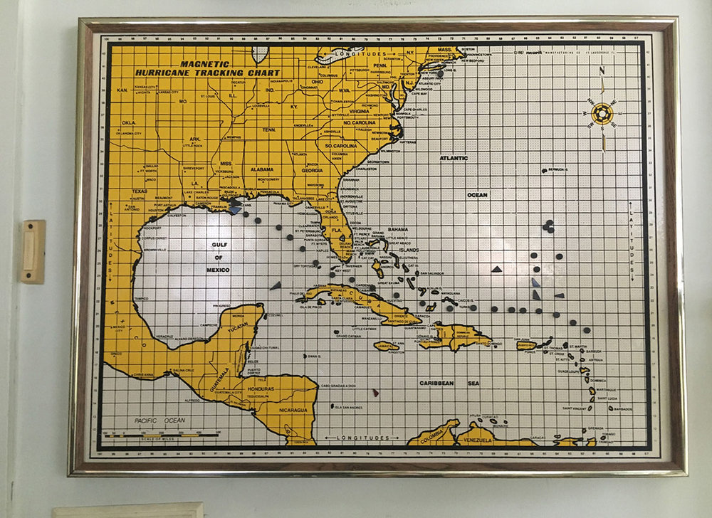 Hurricane Tracking Chart, Annette Bowman's Home. Berwick, LA. September 2017. © Zoe Strauss