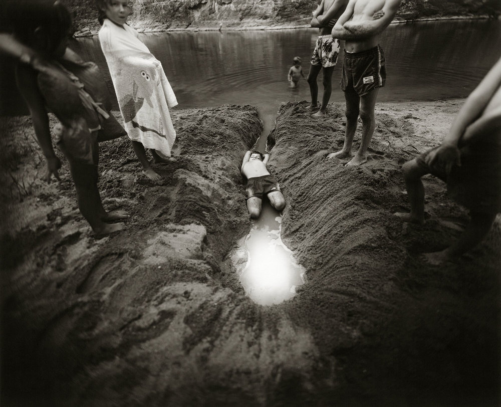 © Sally Mann.  The Ditch, 1987.  Gelatin silver print. The Art Institute of Chicago, Gift of Sally Mann and Edwynn Houk Gallery