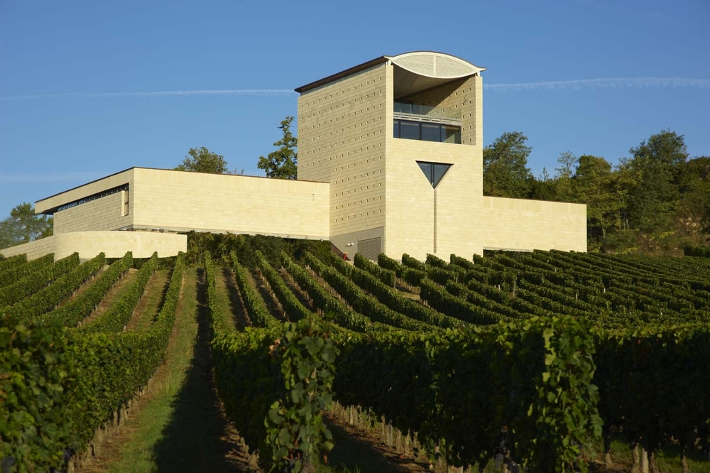 "The ""Cathedral of Wine"" wine cellar at Faugeres was designed by Mario Botta"