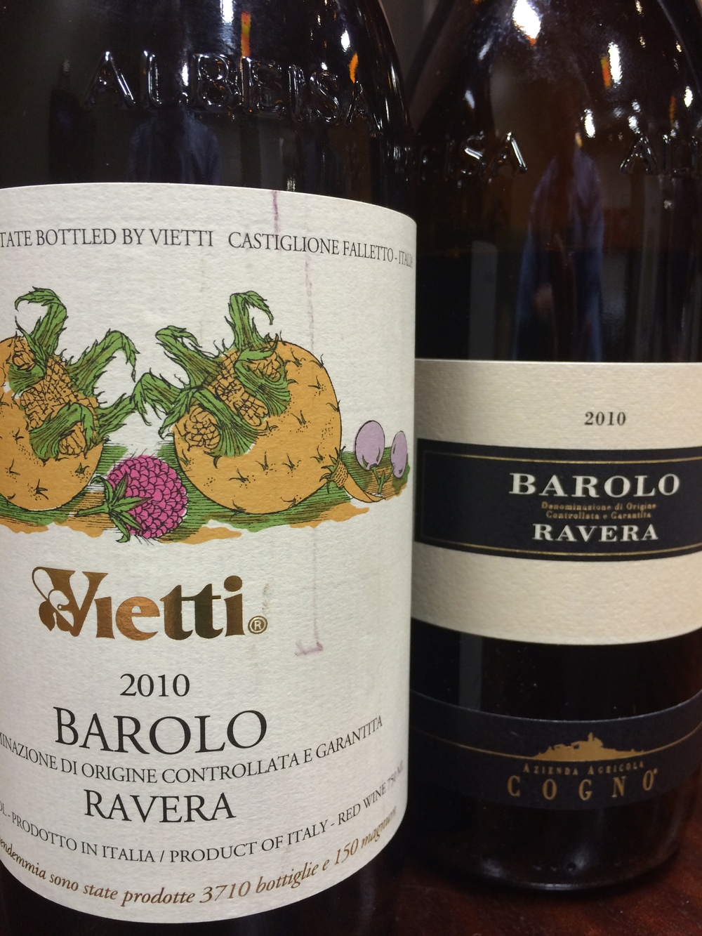 Ravera Barolo from Vietti and Cogno