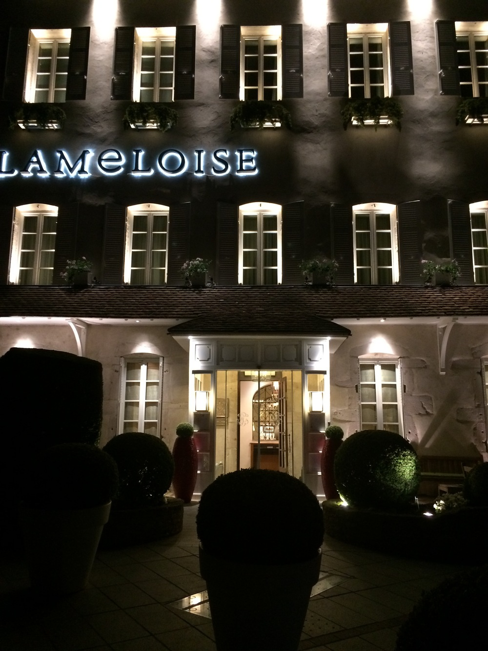 RestaurantLameloise at the end of a great evening