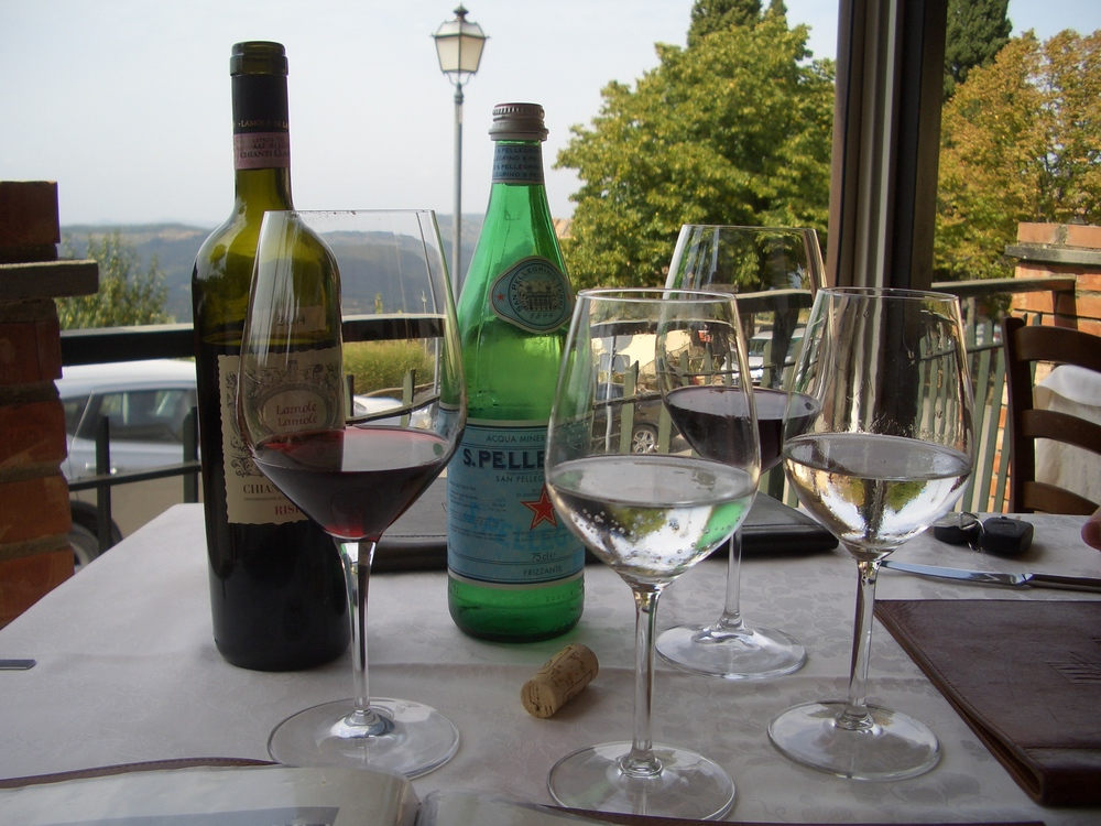 Our table on the terrace in september 2008