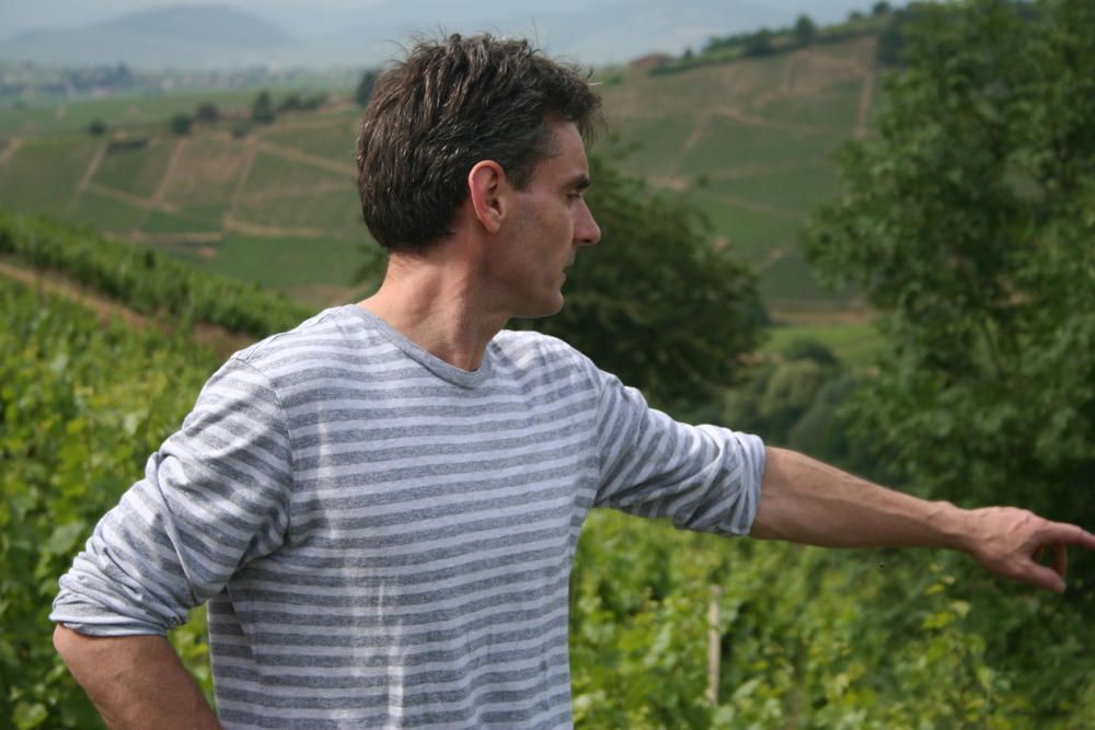 Stephane Aviron discussing his terroir